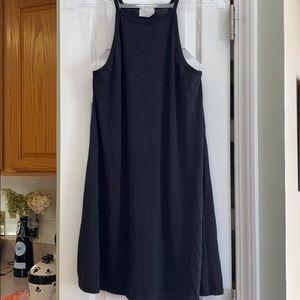 Little black spaghetti strap black dress
